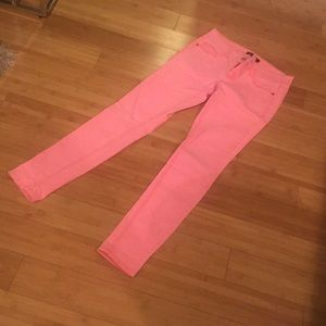 Like new bright pink/salmon jeans - worn once!